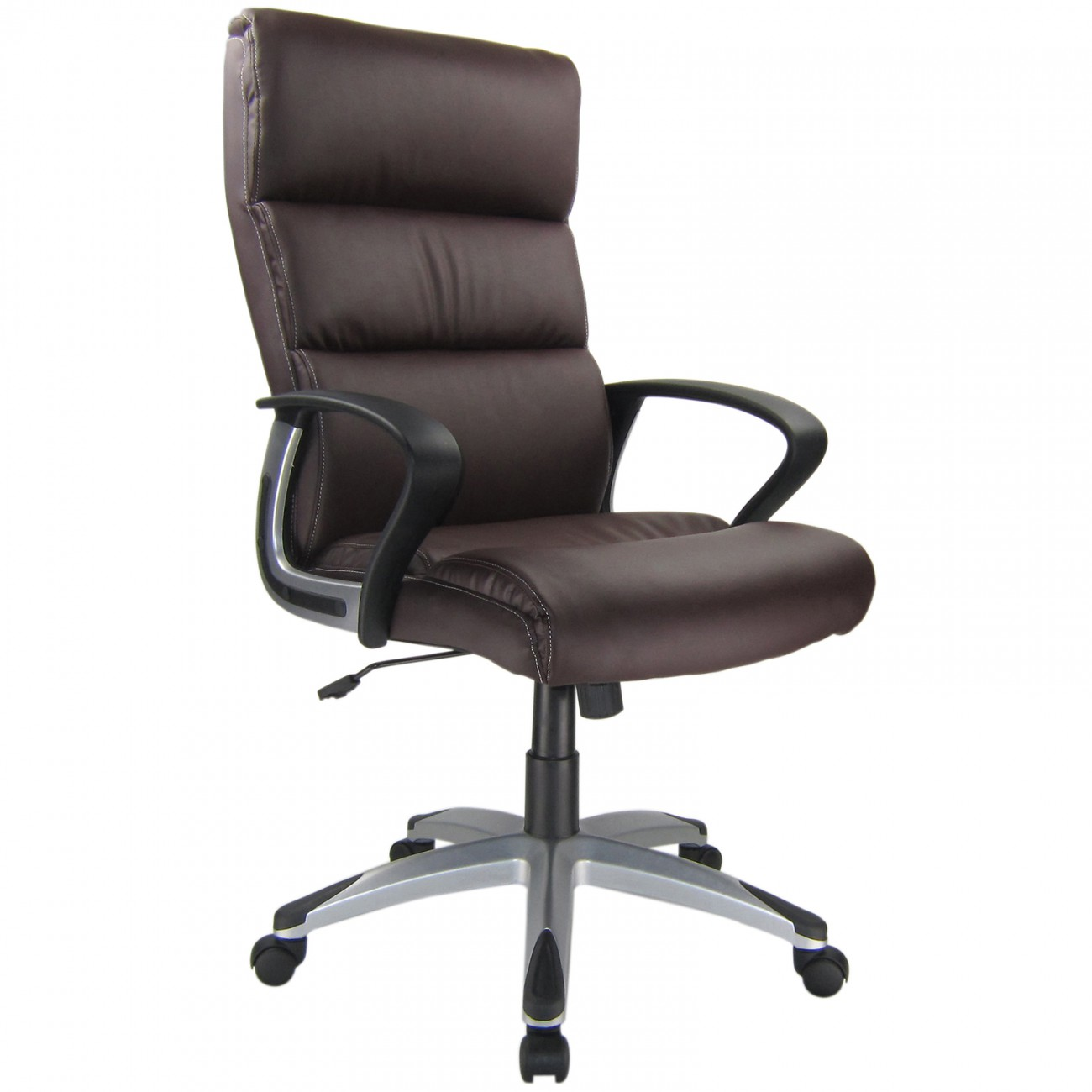 office chair executive computer desk adjustable armrest faux leather