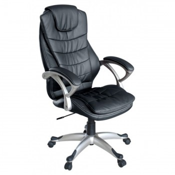 MY SIT Office Chair Chicago Faux Leather in Black