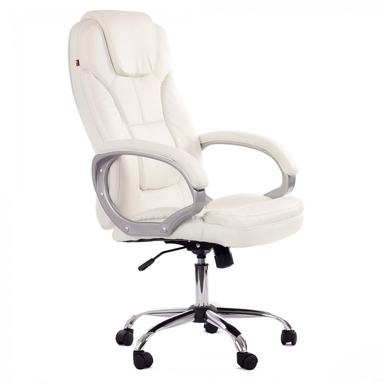 My sit office chair milano faux leather deluxe edition in - Chaise de bureau blanche ...