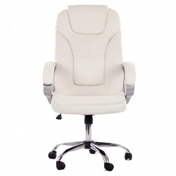 MY SIT Office Chair Milano Faux Leather Deluxe Edition in White – Bild 2