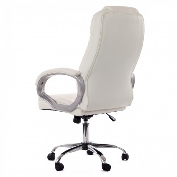 MY SIT Office Chair Milano Faux Leather Deluxe Edition in White – Bild 5