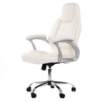 MY SIT Office Chair Venecia Deluxe Faux Leather in White – Bild 3