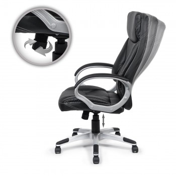 MY SIT Office Chair Bora Bora Faux Leather in Black  – Bild 10