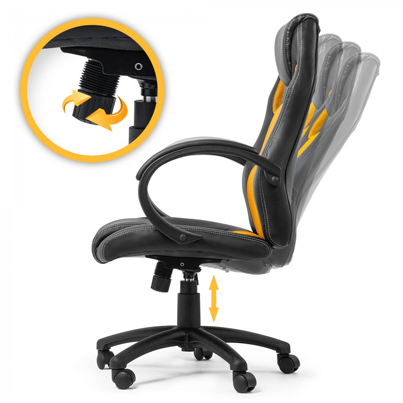 my sit office chair racing chair gold synthetic leather office racing chairs. Black Bedroom Furniture Sets. Home Design Ideas