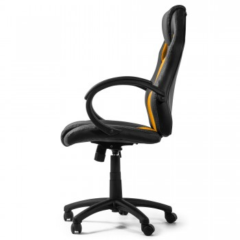 MY SIT Office Chair Racing Chair Gold Synthetic Leather – Bild 6