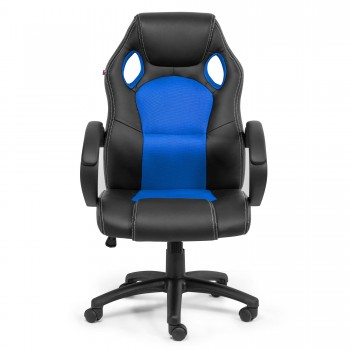 MY SIT Office Chair Racing Chair Silverblue Synthetic Leather – Bild 2