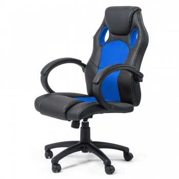 MY SIT Racing Chair Bürostuhl aus Kunstleder Silverblue