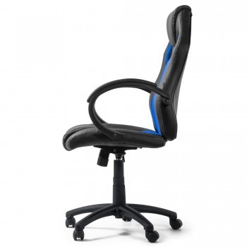 MY SIT Office Chair Racing Chair Silverblue Synthetic Leather – Bild 5