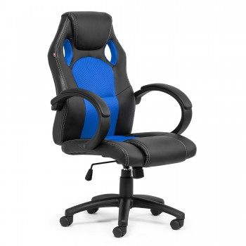 MY SIT Office Chair Racing Chair Silverblue Synthetic Leather – Bild 8