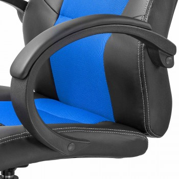 MY SIT Office Chair Racing Chair Silverblue Synthetic Leather – Bild 10