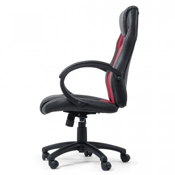 MY SIT Office Chair Racing Chair Red Synthetic Leather – Bild 5