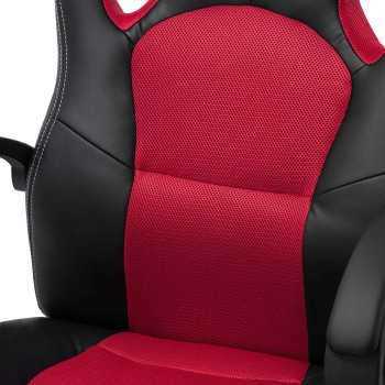 MY SIT Office Chair Racing Chair Red Synthetic Leather – Bild 10