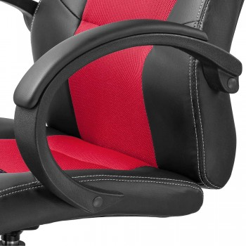 MY SIT Office Chair Racing Chair Red Synthetic Leather – Bild 11