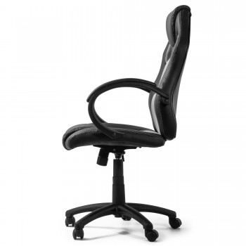 MY SIT Office Chair Racing Chair Silver Synthetic Leather – Bild 6