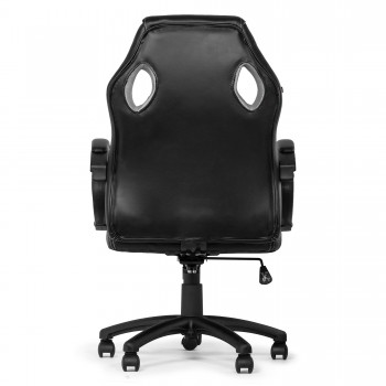 MY SIT Office Chair Racing Chair Silver Synthetic Leather – Bild 7