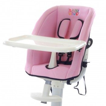 Baby Vivo Replacement Cover for design aluminum highchair - rose