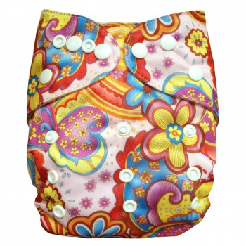 BABY VIVO Bamboo Diaper Cloth with two Bamboo Inserts