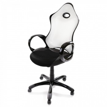 MY SIT Racing Chair Bürostuhl aus Kunstleder Luxury Line Silverstone