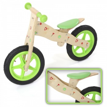 Baby Vivo Children Balance Bike 12 Inch - Classic in Green – Bild 1