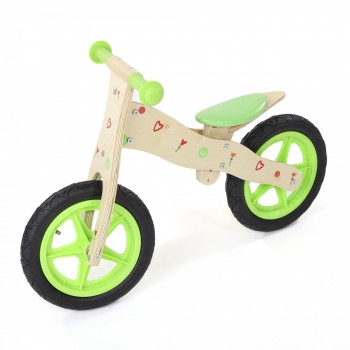 Baby Vivo Children Balance Bike 12 Inch - Classic in Green – Bild 2