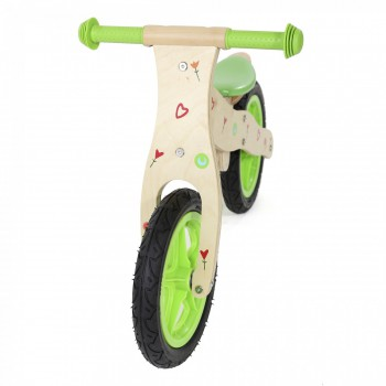 Baby Vivo Children Balance Bike 12 Inch - Classic in Green – Bild 5