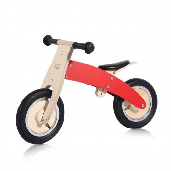 Baby Vivo 10 inch balance bike / trainer bike made of wood - Chopper in Red – Bild 1