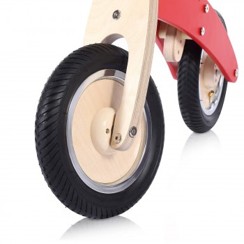 Baby Vivo 10 inch balance bike / trainer bike made of wood - Chopper in Red – Bild 11