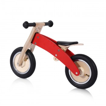 Baby Vivo 10 inch balance bike / trainer bike made of wood - Chopper in Red – Bild 2