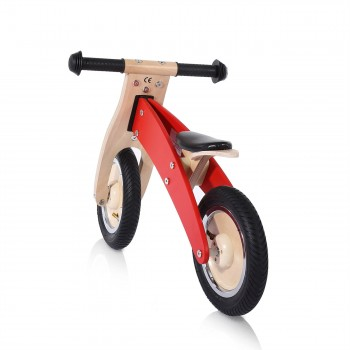 Baby Vivo 10 inch balance bike / trainer bike made of wood - Chopper in Red – Bild 3