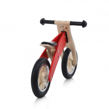 Baby Vivo 10 inch balance bike / trainer bike made of wood - Chopper in Red – Bild 4