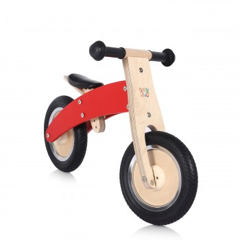 Baby Vivo 10 inch balance bike / trainer bike made of wood - Chopper in Red – Bild 6