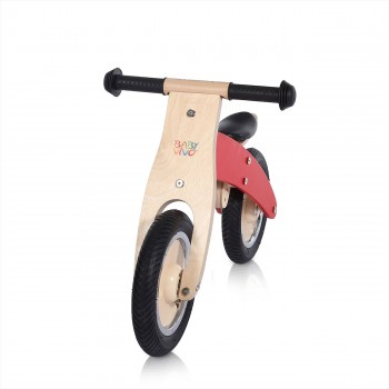 Baby Vivo 10 inch balance bike / trainer bike made of wood - Chopper in Red – Bild 7
