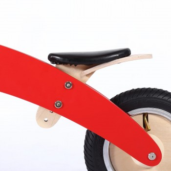 Baby Vivo 10 inch balance bike / trainer bike made of wood - Chopper in Red – Bild 9