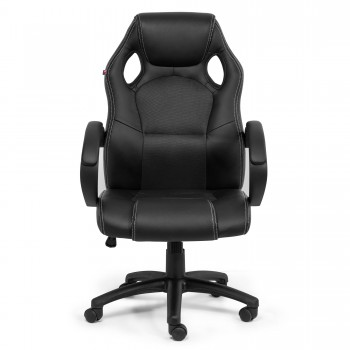 MY SIT Office Chair Racing Chair Black Synthetic Leather – Bild 2