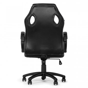 MY SIT Office Chair Racing Chair Black Synthetic Leather – Bild 6