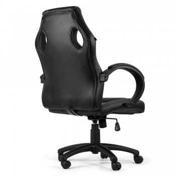 MY SIT Office Chair Racing Chair Black Synthetic Leather – Bild 7