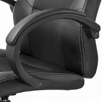MY SIT Office Chair Racing Chair Black Synthetic Leather – Bild 10
