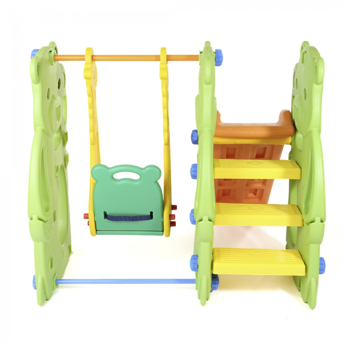 baby vivo spielplatzschaukel spielger st mit rutsche f r indoor outdoor jungle baby kind. Black Bedroom Furniture Sets. Home Design Ideas