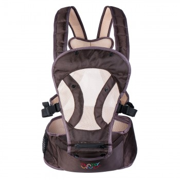 BABY VIVO Baby Carrier with built-in Seating - in Brown/Beige – Bild 2