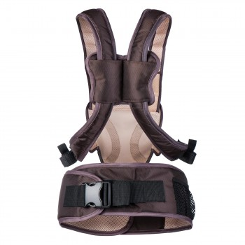 BABY VIVO Baby Carrier with built-in Seating - in Brown/Beige – Bild 5