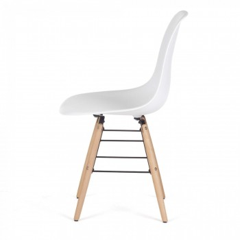 Makika Design Retro Dining Chair Set of 4 - BEEZ in White – Bild 4