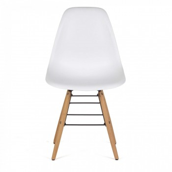 Makika Design Retro Dining Chair Set of 4 - BEEZ in White – Bild 2