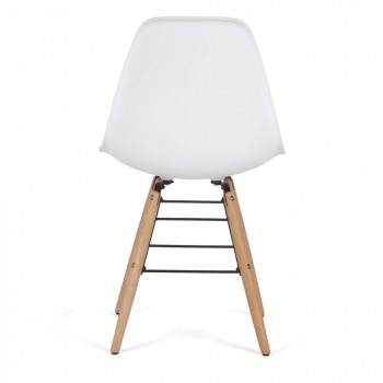 Makika Design Retro Dining Chair Set of 4 - BEEZ in White – Bild 5