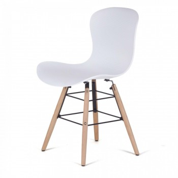 MY SIT Design Retro Dining Chair Set of 4 - NEYA in White – Bild 3