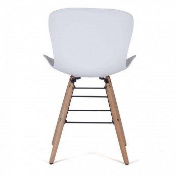 MY SIT Design Retro Dining Chair Set of 4 - NEYA in White – Bild 5