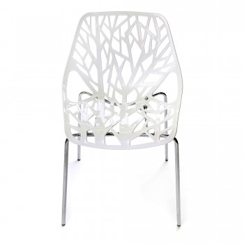 Makika Design Retro Dining Chair Set of 4 - CALUNA in White – Bild 3