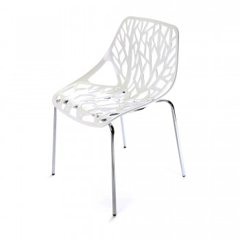 Makika Design Retro Dining Chair Set of 4 - CALUNA in White – Bild 5