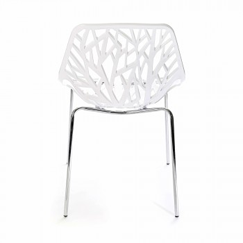 Makika Design Retro Dining Chair Set of 4 - CALUNA in White – Bild 6
