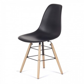 Makika Design Retro Dining Chair Set of 4 - BEEZ in Black – Bild 3