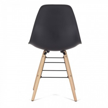 Makika Design Retro Dining Chair Set of 4 - BEEZ in Black – Bild 5